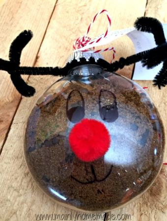 Easy Mulling Spices Reindeer Ornament Gift Idea