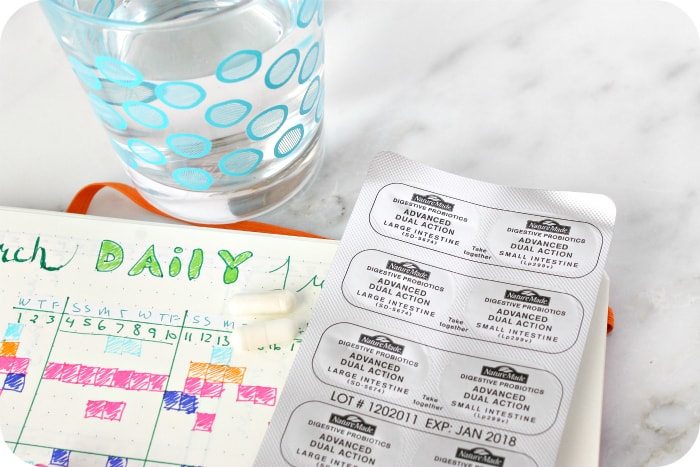 Daily Habit Tracker with Probiotics and Water