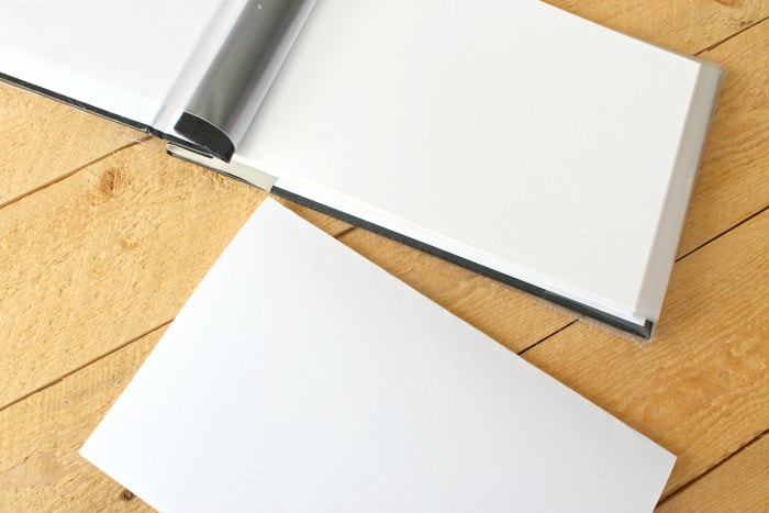 diy autograph book white signature pages