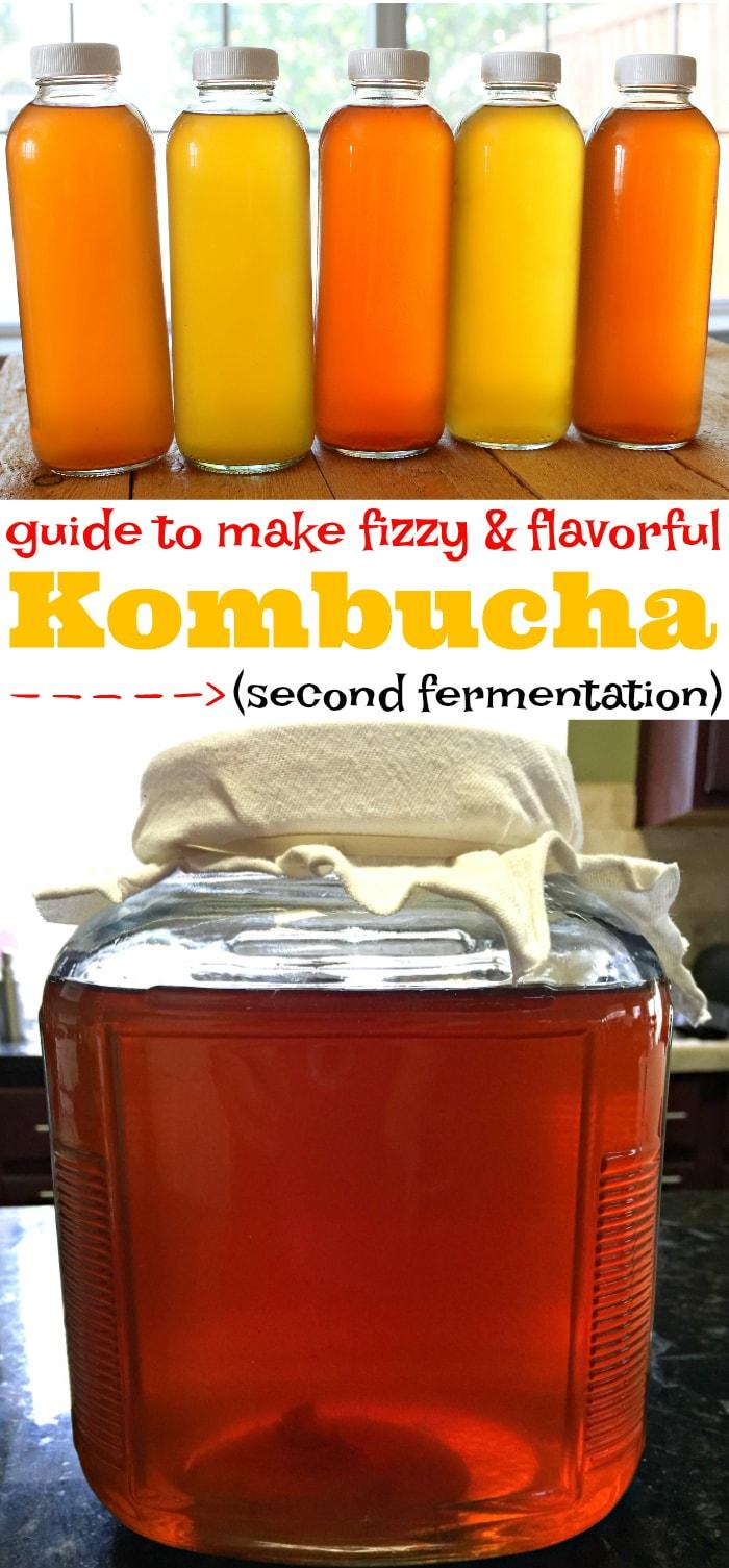 guide to make kombucha second fermentation