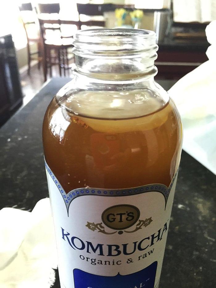 making kombucha scoby from a bottle