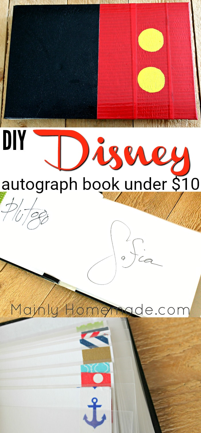 Easy DIY Autograph Book For Disney