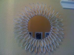 Recycled Toilet Paper Roll Mirror: Sunburst Mirror