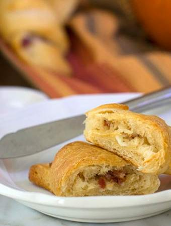 Garlic Feta Bacon Crescent Rolls