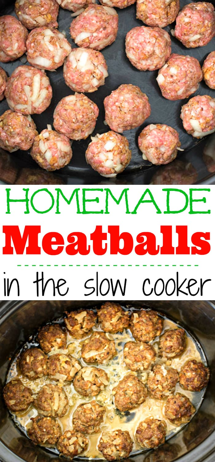 Easy Home Style Slow Cooker Homemade Meatballs