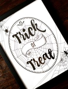 Free Trick or Treat Halloween Printable