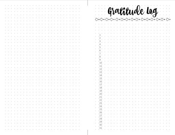 Gratitude Log Free Printable