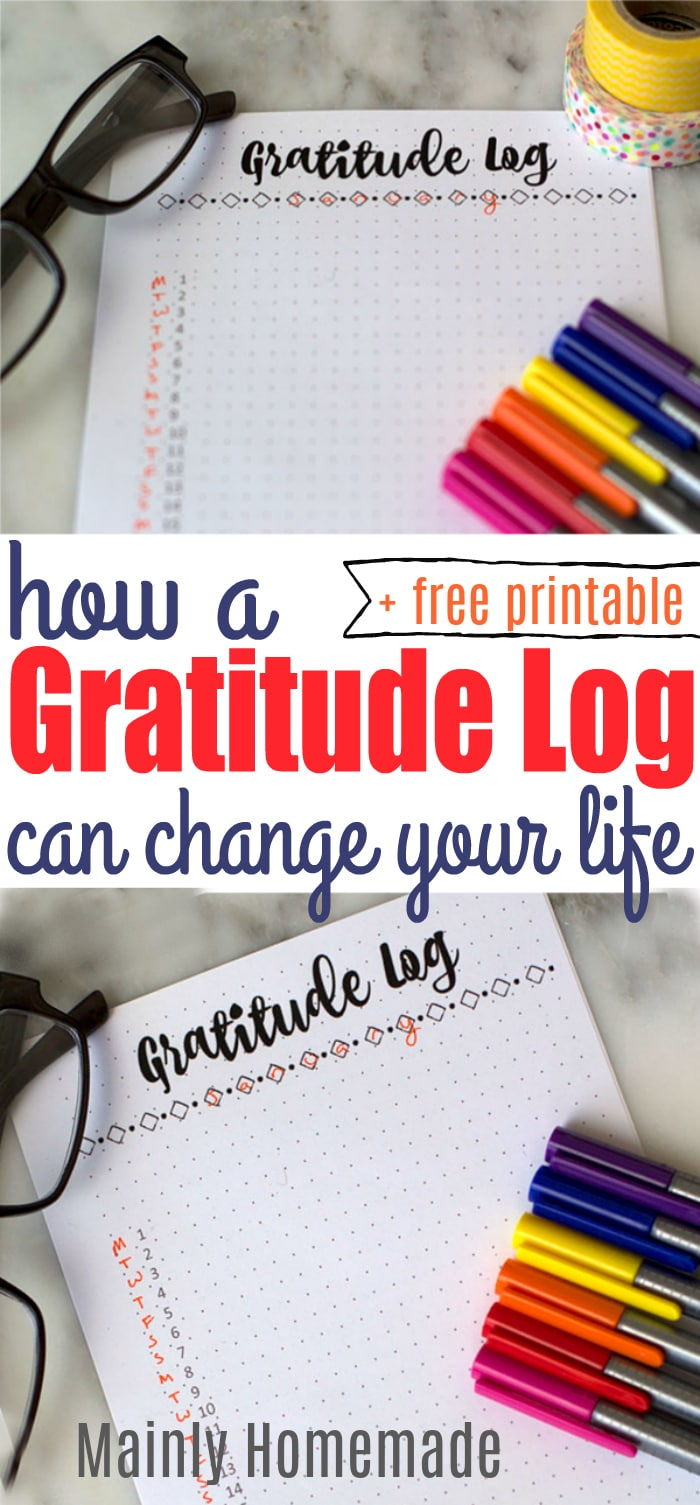 Gratitude Log Printable