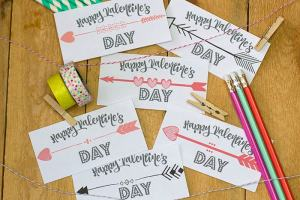Arrows Valentines printed and cut