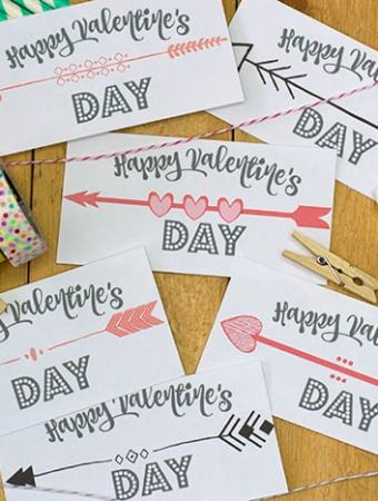 Cute BoHo Arrow Valentines Card – Free Printable