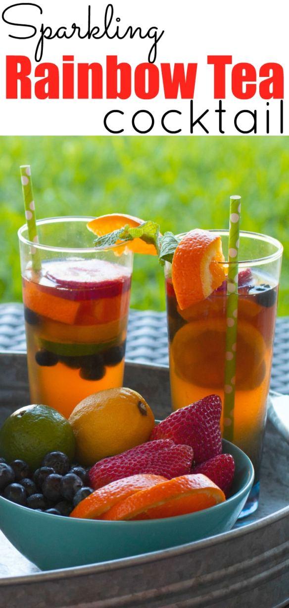 Sparkling Rainbow Tea Cocktail