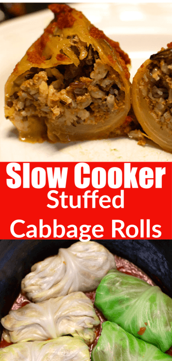 Slow cooker stuffed cabbage Rolls Make ahead for an easy lunch idea.