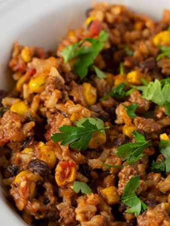 Taco Rice one Pan meal for busy nights