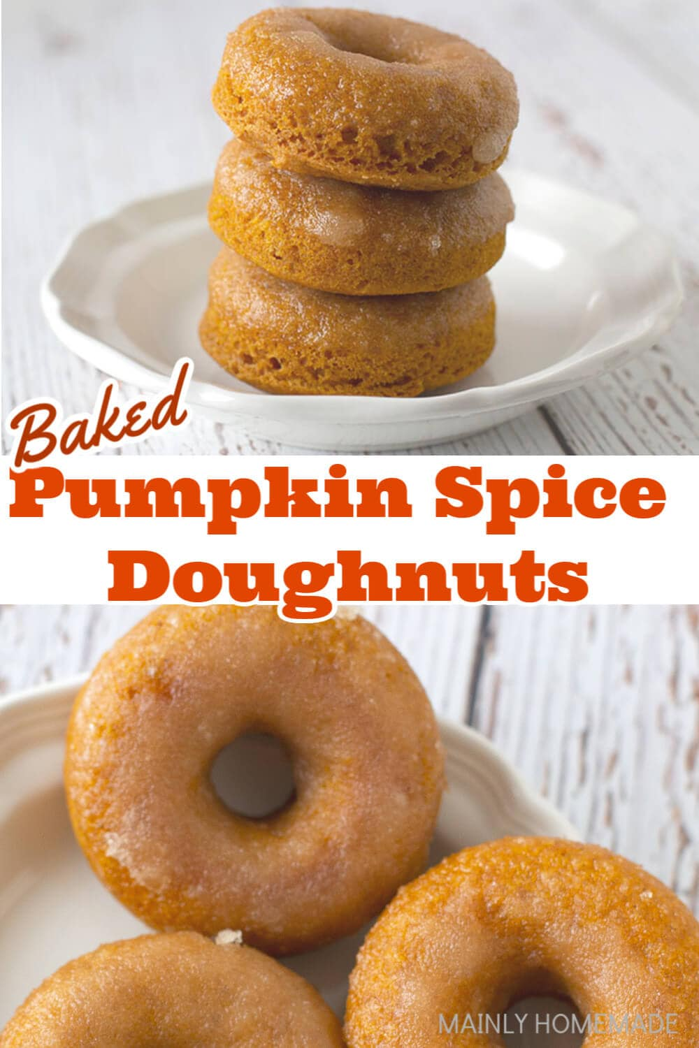 The most delicious pumpkin spice donuts you've ever had! They are moist and delicious and full of pumpkin spice flavor in one little doughnut.