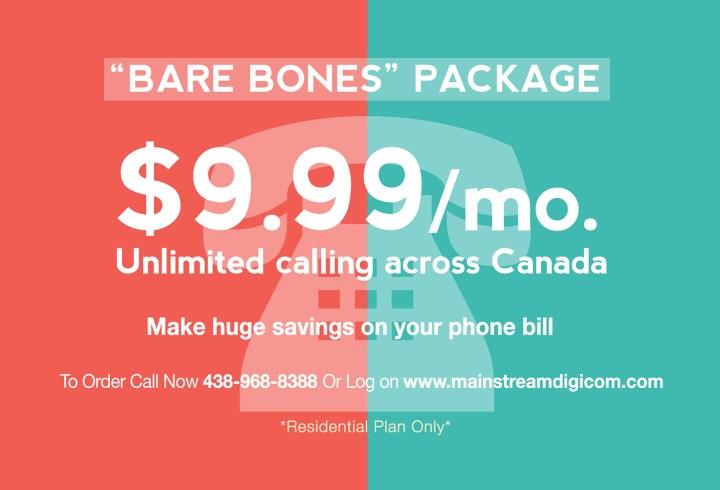 Mainstream Digicom bare bones package