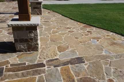 Backyard flagstone patio ideas