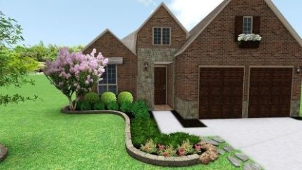 Frisco Texas Flower Bed Stone Borders