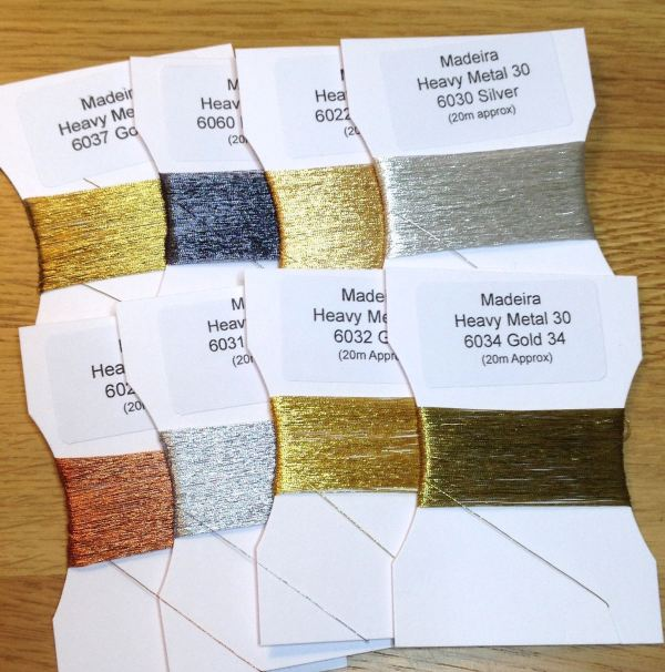 Heavy Metals hand embroidery thread pack