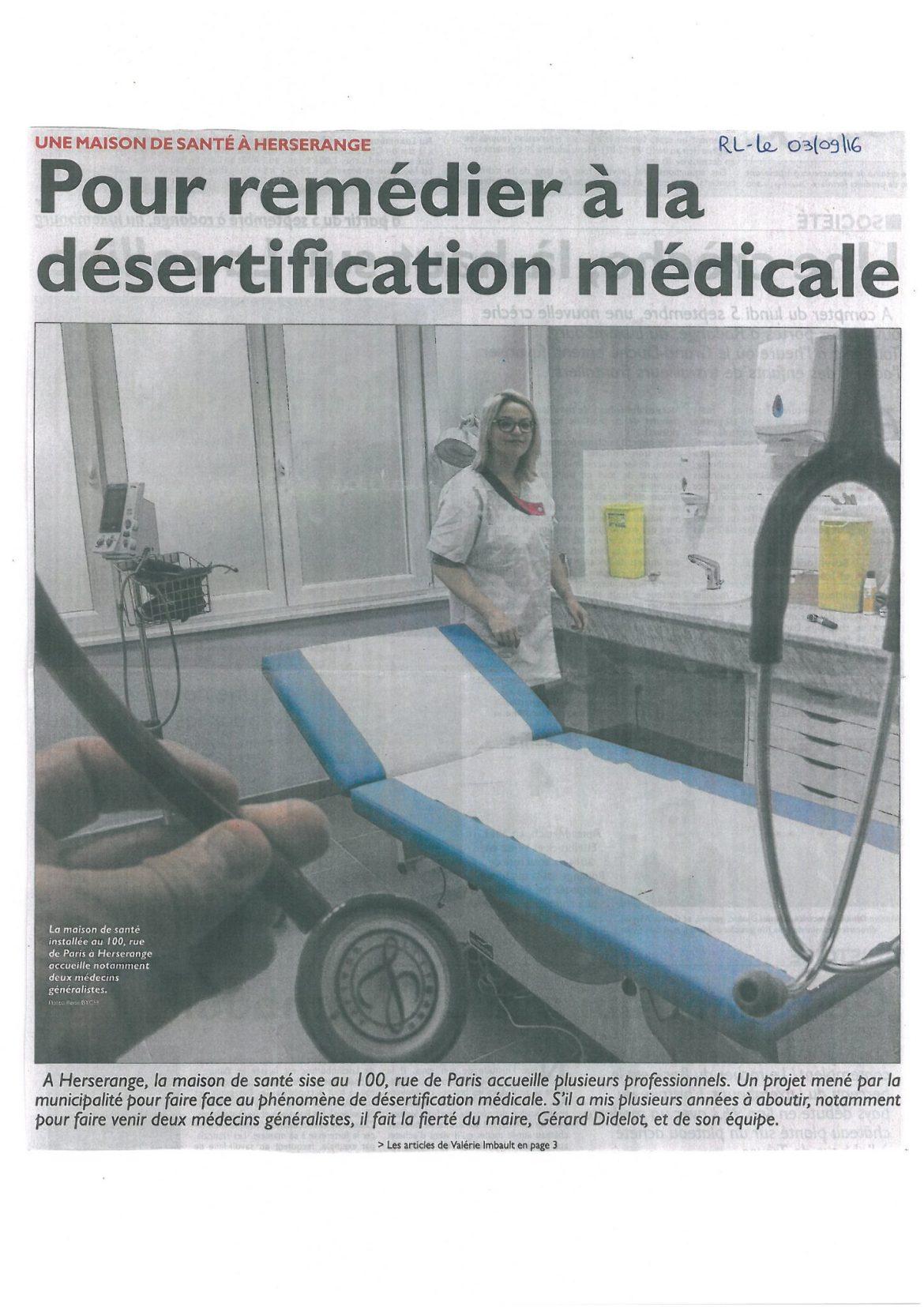 Pour remédier à la désertification médicale