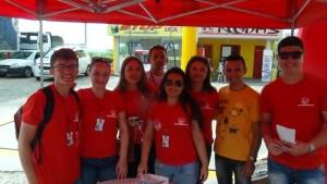Equipe da Rádio Mais em mais uma blitz (Foto Juan Carlos/Mais FM)