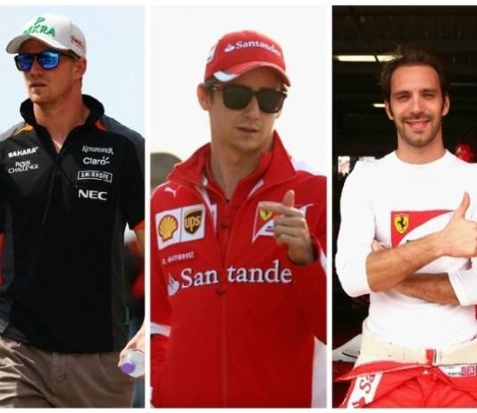 Nico Hulkenberg e os ex-pilotos de F-1 Gutiérrez e Vergne estão na mira da Haas (Montagem sobre fotos da Getty)