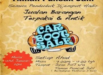 Car boot Sale Puncak Jalil
