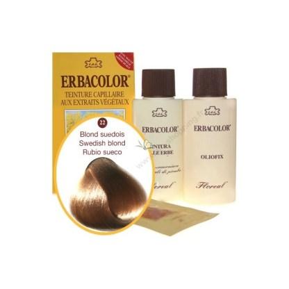 Teinture Blond suédois 120 ml Numéro 22 Erbacolor
