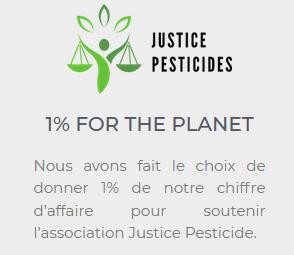 Maison Carrillo a rejoint 1% pour la planéte et soutient Justice Pesticides