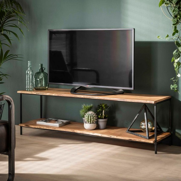 vintage tv mobel natural 150 cm