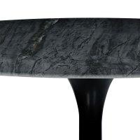 Esstisch Marmor schwarz Ø 120 cm Metall schwarz ...