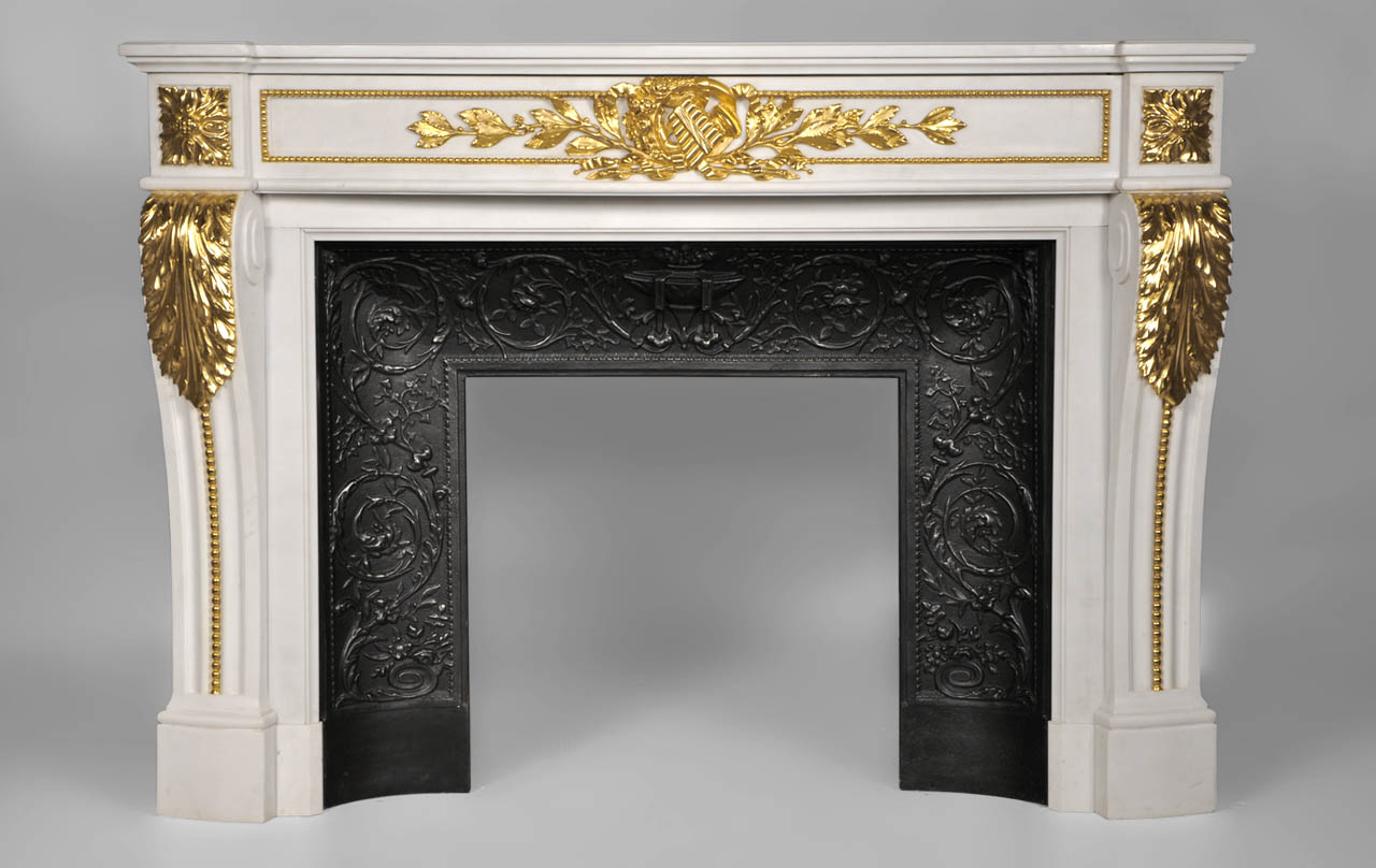 Arcadia Louis XVI Style Fireplace Made Out Of White P