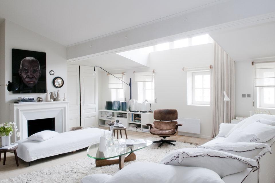 Camaeu De Blanc Et Crme Pour Un Appartement Doux Et