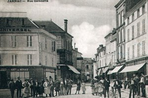 Vue Carte postale rue Gambetta Jarnac ville natale Mitterrand