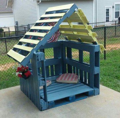 cabane en palette pour enfant 30