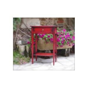 Table téléphone Rouge Sang essuyée