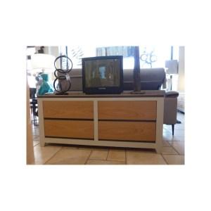 Meuble télévision Ellipse 2 tiroirs 1 porte