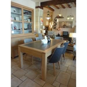 Table Camille en chêne et céramique