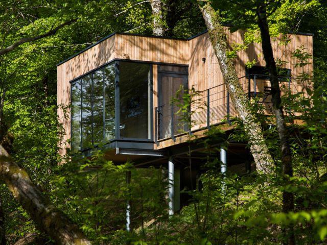 des cabanes bois et design plongees