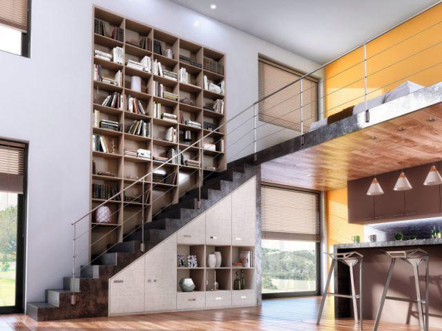 optimiser l espace sous un escalier
