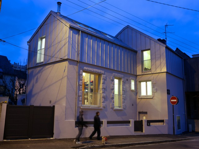 AvantAprs Une Surlvation Zinc Transforme Une Maison