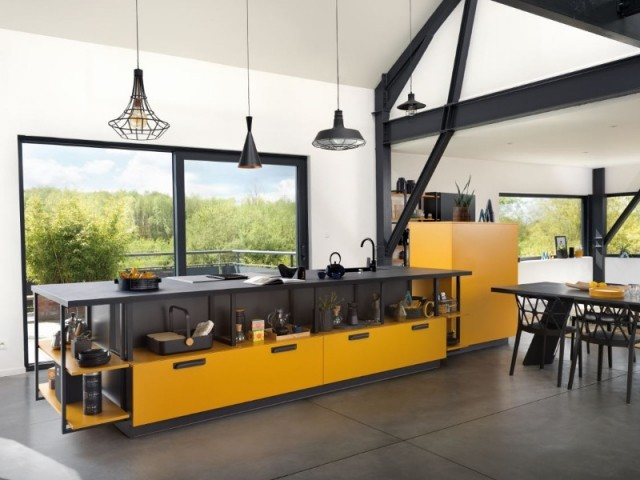 35 cuisines ouvertes avec ilot central