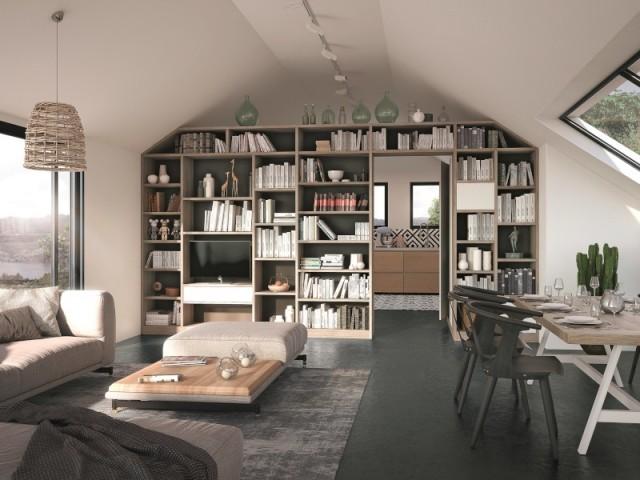 une bibliotheque comme separation de