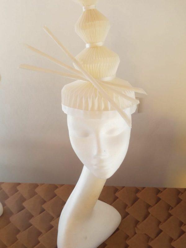 cappello plissettato tessuto barbagli plissè