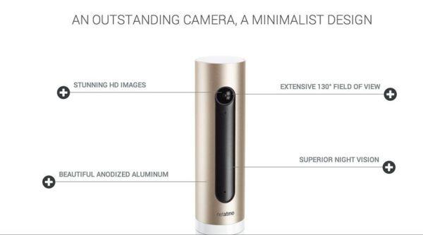 Conception de la caméra connectée à reconnaissance faciale Netatmo Welcome