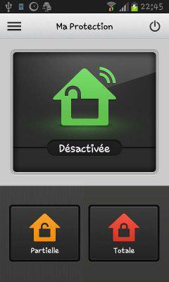 Interface de l'application mobile de la box domotique connectée Home Control 2