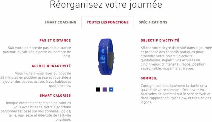 Bracelet d activite Polar Loop-smartband-bracelet connecte