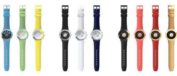 La montre connectée Cogito Fit est disponible en plusieurs couleurs.