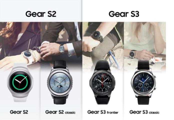 La Samsung Gear S2 et la Samsung Gear S3