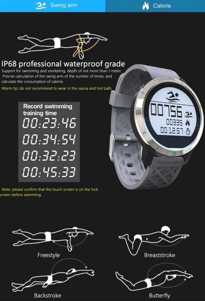 makibes F69 IP68 montre connectee natation-montre cardio-montre connectée étanche