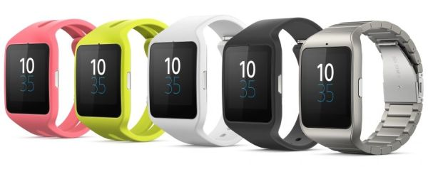 Les couleurs de la smart watch 3 Sony SWR50